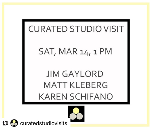 Curated Studio Visits, by Deanna Evans Projects